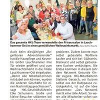 Artikel Lausitzer Woche, Ausgabe Senftenberg 28.12.2019 (Bild: 2/3)