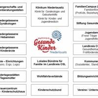 Grafik: Übersicht Partner im Niederlausitzer Netzwerk Gesunde Kinder